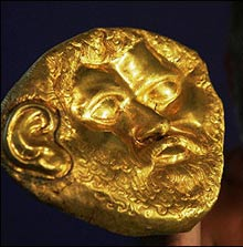 Gold Mask Stirs Ancient Archeology