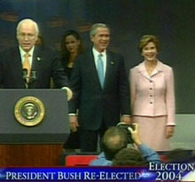 Bush Wins Second Term in White House