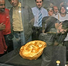 Thracian Owner of Gold Mask Axe-Chopped