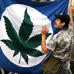 Sofia Revels in Pro-Marijuana March
