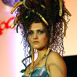 Bulgaria: Snakes, Tattoos Spice Up Sofia Coiffeur Fest