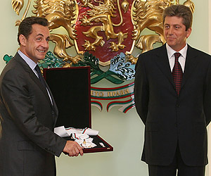 Bulgaria: France's President Sarkozy Awarded Bulgaria's Highest State Order