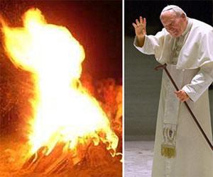 Late Pope John Paul II Appears in Bonfire Vision