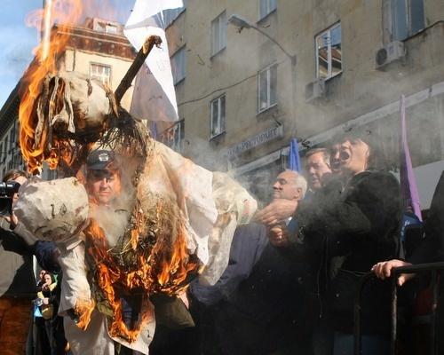 Bulgaria: Bulgarian Steel Workers Stage Easter Rally