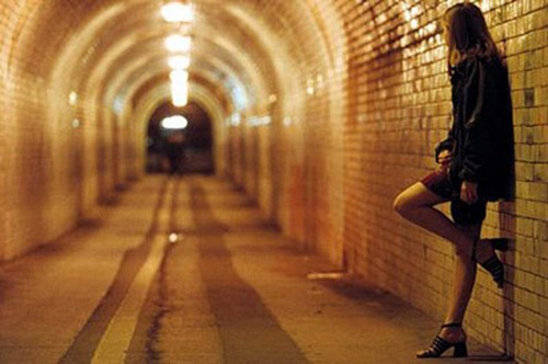 Human trafficking and female practices prostitution