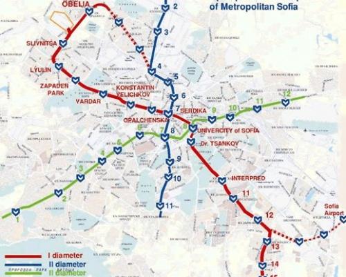 Sofia Subway Map.Bulgaria Capital Sofia To Launch New Metro Line Novinite Com
