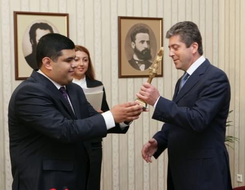 Bulgaria President Awarded Azerbaijani Ilyas Efediyev Prize: Bulgaria President Awarded Azerbaijani Ilyas Efediyev Prize