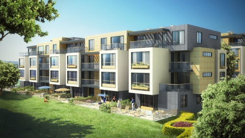 Winslow resumes sofia residential complex construction for Townhouse modern design exterior