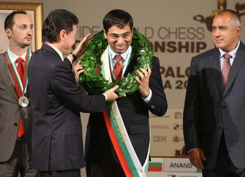 Bulgaria: India's Anand Crowned World Chess Champion in Bulgaria