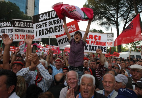 New Mass Protests Shake Albania's Capital Tirana: New Mass Protests Shake Albania's Capital Tirana
