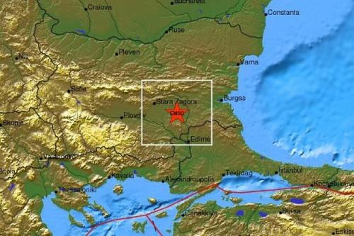 Bulgaria: Light Tremor Shakes Southeastern Bulgaria