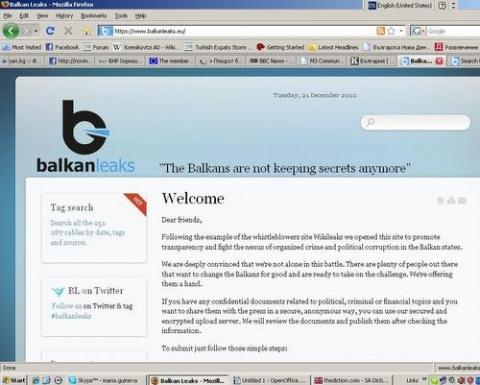 Bulgaria: Bulgaria's Balkanleaks Launch Unique WikiLeaks Search Tool