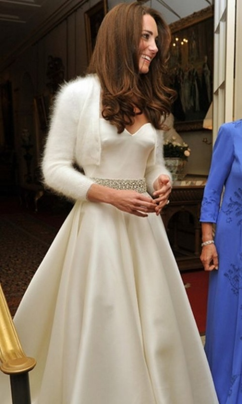 Bulgaria Kate Middleton with 2nd McQueen Dress at Royal Wedding Reception