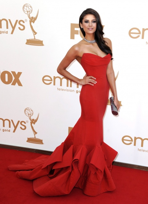 Bulgaria: Nina Dobrev's Red Dress Highly Praised at Emmy Awards