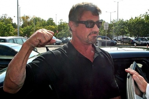 Sylvester Stallone in Sofia for 'The Expendables 2', Vows ...