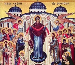 An icon of the Intercession (Veil) of Virgin Mary, a major holiday celebrated by Orthodox Christians in Bulgaria on October 1. Image by Pravoslavieto.com