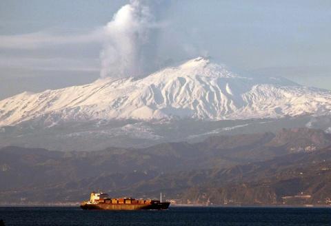 Bulgaria: Italy's Mount Etna Spews Column of Hot Ash