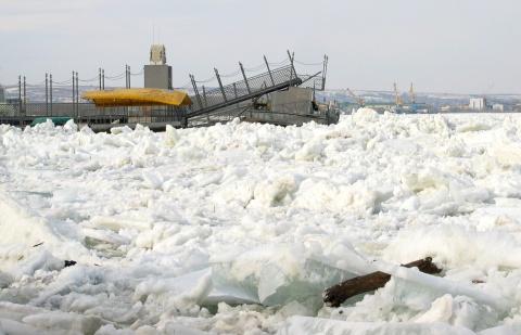 Bulgaria: Floating Ice Ravages Major Bulgarian Danube Port