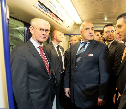 Bulgaria: Borisov, Van Rompuy Inaugurate New Section of Sofia Metro's Line 1