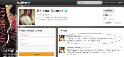 Bulgaria: Selena Gomez Scared by Sofia Earthquake, Mistakes Bulgaria for Italy