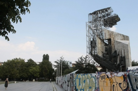 Sofia Starts Dismantling Crumbling Culture Palace Monument: Sofia Starts Dismantling Crumbling Culture Palace Monument