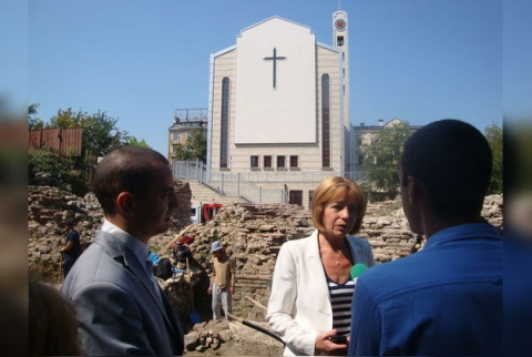 Archaeologists Uncover Roman Mosaic in Downtown Sofia: Archaeologists Uncover Roman Mosaic in Downtown Sofia