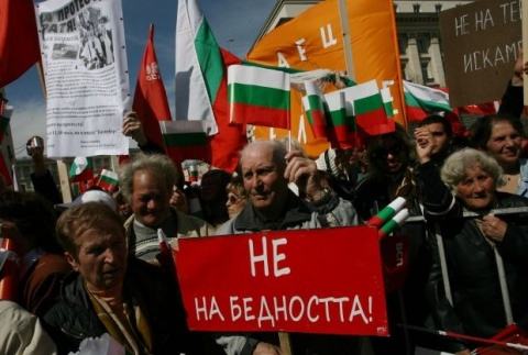 Bulgarian Socialists Stage National Protest against Ruling GERB: Bulgarian Socialists Stage National Anti-GERB Protest