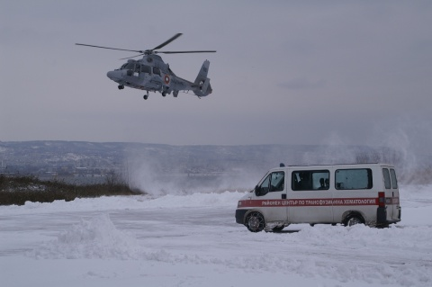 Bulgaria: Bulgarian Navy Delivers Blood to Snow-Blocked Districts by 'Panthers'