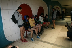 Bulgaria: Young Bulgarians Stage No Pants Subway Ride