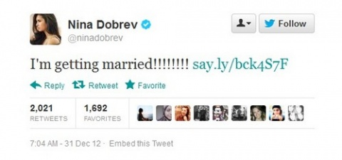 Bulgaria: Nina Dobrev: 'I'm Getting Married!!!!!!!!'