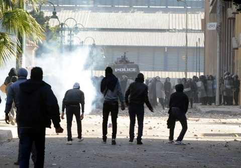Bulgaria: Egyptian Police Clash with Protesters on Mubarak Ouster Anniversary