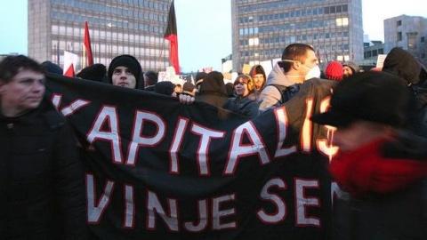 Bulgaria: Police Use Teargas against Massive Anti-Govt Rally in Slovenia