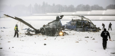 Bulgaria: Helicopters Crash near Berlin Stadium during Police Exercise