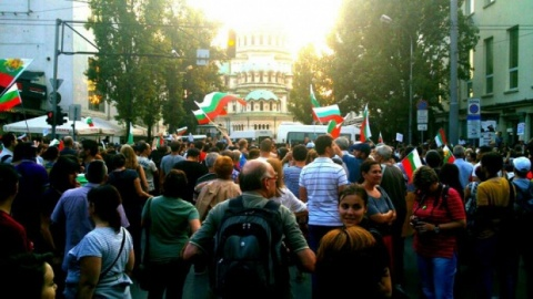 1st Clashes with Police on Day 28 of Bulgaria's Anti-Govt Protests: First Clashes with Police in Bulgaria's Anti-Govt Protests
