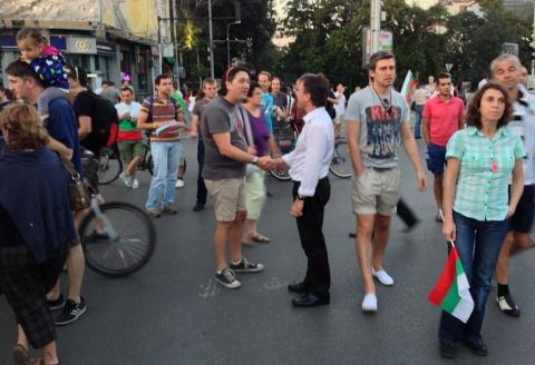 French Ambassador 'Visits' Bulgarian Anti-Govt Rally: French Ambassador 'Visits' Bulgarian Anti-Govt Rally