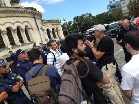 Protesters, Riot Police Clash in Bulgarian Capital: Protesters, Riot Police Clash in Bulgarian Capital