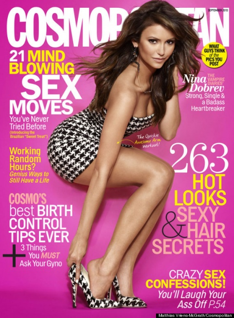 Bulgaria: Bulgaria-Born Nina Dobrev Gorgeous on Cosmopolitan Cover