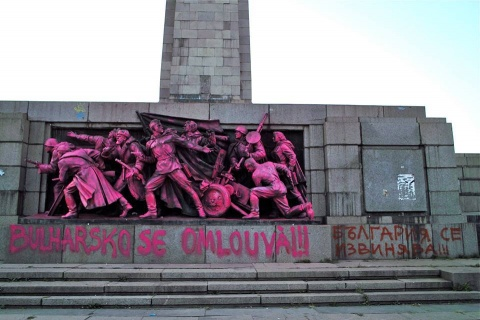 Sofia Soviet Army Monument 'Decorated' in Honor of Prague Spring: Sofia Soviet Army Monument 'Honors' Prague Spring