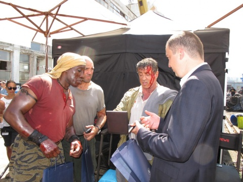 """Bulgarian Mayor Welcomed By """"Expendables 3"""" Cast: Bulgarian Mayor Welcomed By """"Expendables 3"""" Cast"""