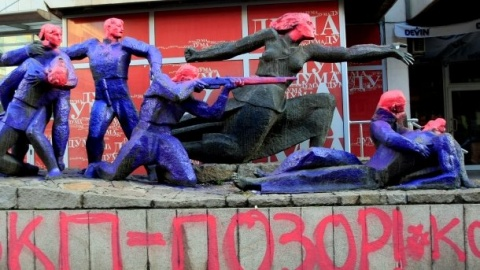 Bulgaria: Paint on WWII 'Communist' Monument Highlights Bulgaria's Unhealed Wounds