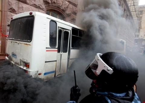 Bulgaria: Ashton Witnesses Kiev Clashes, Impressed by Ukrainians' Firmness