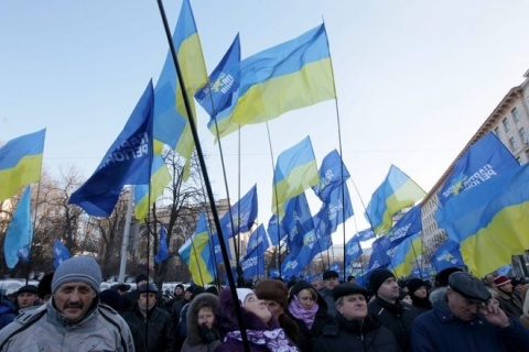 Ukrainian Capital Braces for Huge Pro-EU Rally: Ukrainian Capital Braces for Huge Pro-EU Rally
