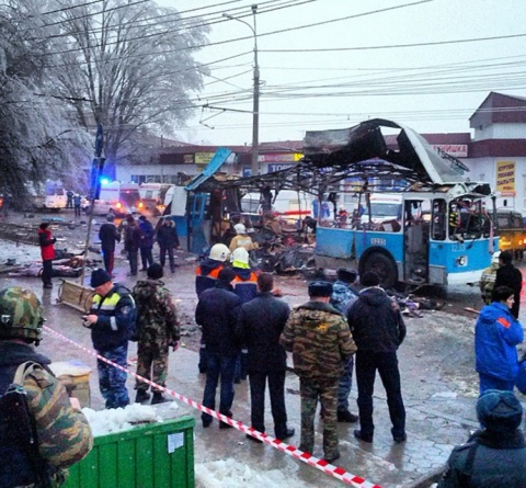 Bulgaria: Dead Bodies Scattered around Burned-Out Trolleybus in Volgograd