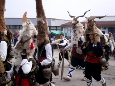 Bulgarian Kukeri Scare away Evil on 1st Day of 2014: Bulgarian Kukeri Scare away Evil on 1st Day of 2014