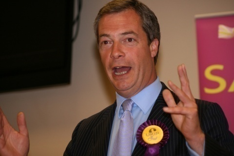 UKIP's Nigel Farage. Photo by EPA/BGNES
