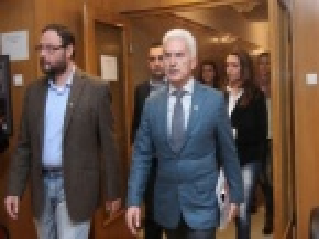Ataka's Volen Siderov Leaves Consultations at Bulgarian Presidency