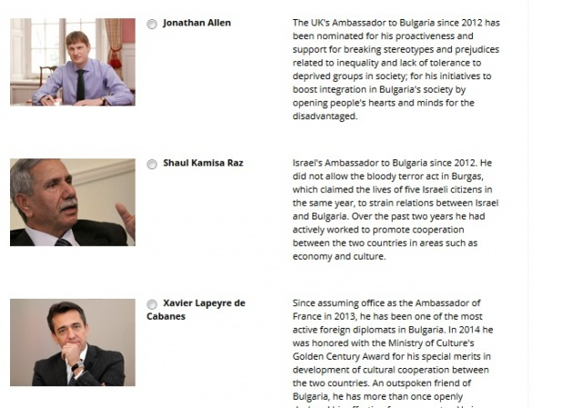 Bulgaria: UK's Former Ambassador Jonathan Allen Tops Novinite.com's Personality in the News Poll
