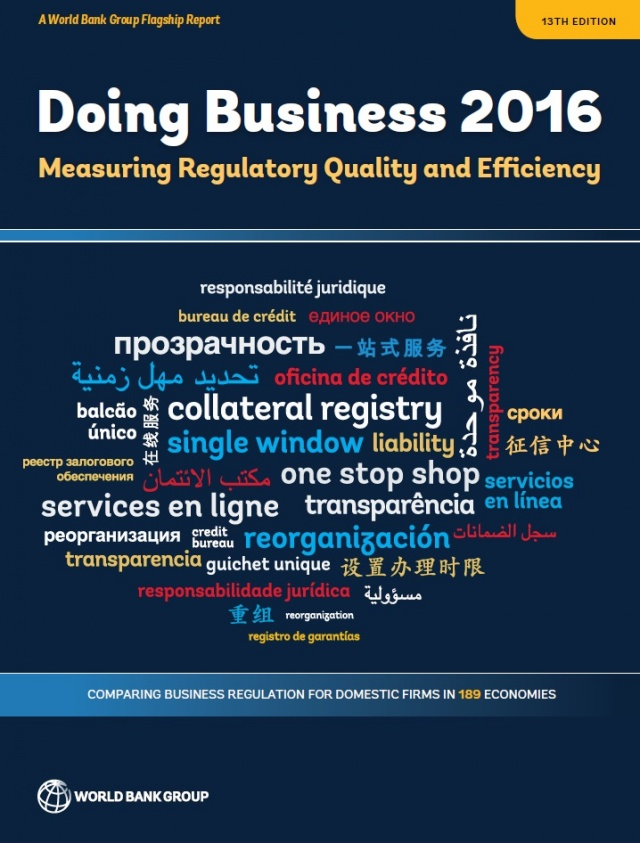 Bulgaria: Bulgaria Ranks 38th in World Bank's Ease of Doing Business 2016 Ranking