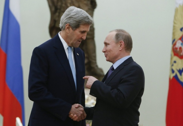 Bulgaria: Putin, Kerry Vow to Cooperate in Solving Conflicts in Syria, Ukraine