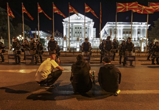 Bulgaria: Third Night of Macedonia Protests Ends with Arrests, Injured Police